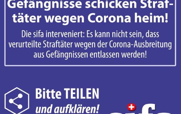 Keine Gefängnis-Entlassung von Straftätern wegen Corona!